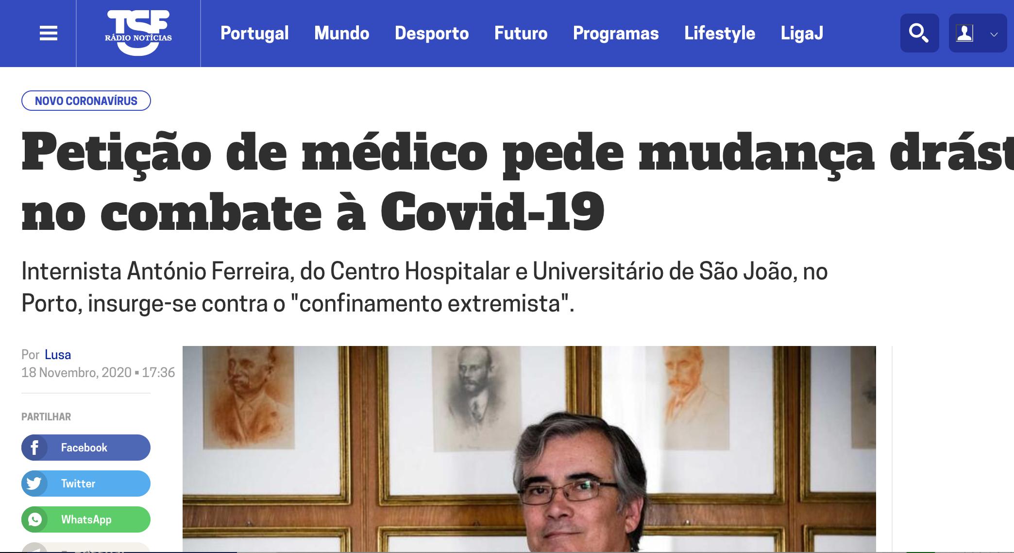 Petição de médico pede mudança drástica no combate à Covid-19