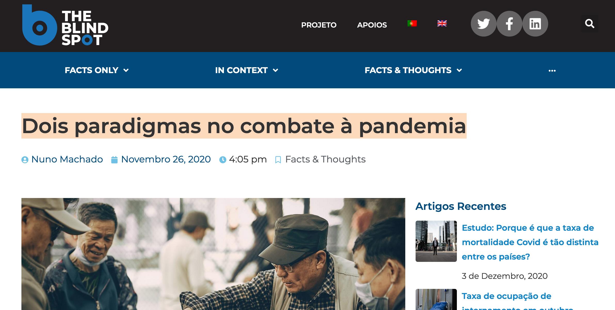Dois paradigmas no combate à pandemia