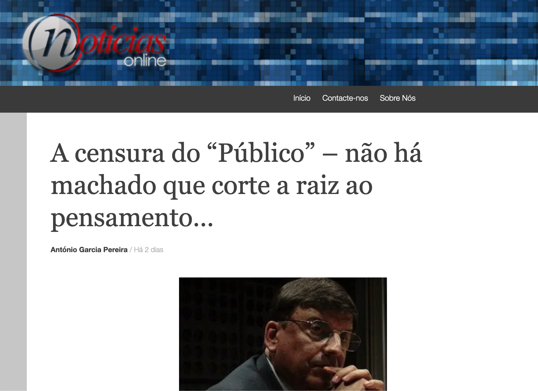 """A censura do """"Público"""" – não há machado que corte a raiz ao pensamento…"""